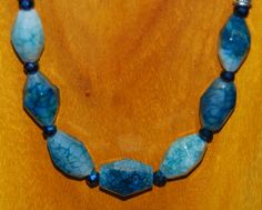 Gorgeous Teal Spider Agate with Crystals in Four Strand Seed Bead Necklace by UntamedSpiritDesigns on Etsy