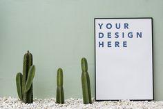 Mockup design space on paper board
