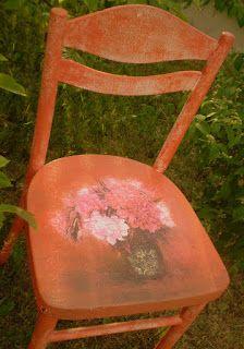 Rękodzieło u Edyty Coś więcej niż hobby: Starodawne krzesło drewniane