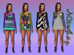 Jumper dress at NiteSkky Sims via Sims 4 Updates