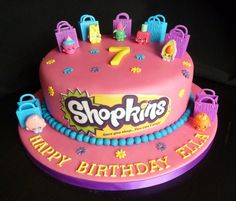 Shopkins Birthday Cake Shopkins Birthday Cake in Shopkins Birthday Party Cak. Shopkins Birthday Cake Shopkins Birthday Cake in Shopkins Birthday Party Cake – Party Supplie Bolo Shopkins, Fete Shopkins, Shopkins Birthday Cake, Birthday Cakes Girls Kids, 7th Birthday Cakes, Birthday Ideas, Pastel Shopkins, Lego Torte, Party Fiesta