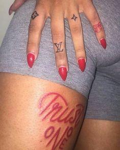 Tattoo Ideas for Fingers - Tattoo Ideas for Fingers , Tattoo Design Simple Tattoos Sleeve Tattoos for Women Red Ink Tattoos, Dope Tattoos, Pretty Tattoos, Unique Tattoos, Small Tattoos, Sleeve Tattoos, Tatoos, Black Girls With Tattoos, Tattoos For Women