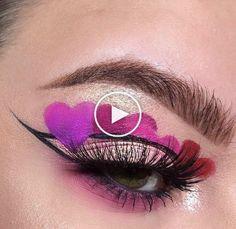 9 Ways to Wear Heart Queen Of Hearts Makeup, Heart Evangelista, Under Eye Makeup, 70s Makeup, Valentines Day Makeup, Artists Like, Heart Eyes, Eyeshadow Palette, Heart Shapes