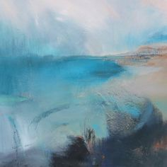 RAPPORT Art Print by Kathy Ramsay Carr The amazing abstract blue hues used to capture this seascape are breathtaking.