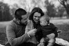 Tulsa Family Photographer | Chelsea Ahlgrim Photography- This sweet family braved the cold for a session with their little one!