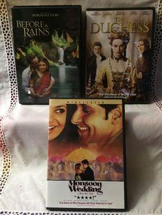 3 DVDs Before The Rains, The Duchess, Monsoon Wedding Romantic Films