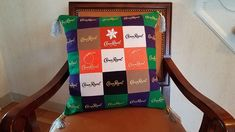 Custom designed pillows are in high demand! Check out this pillow made from 20 Crown Royal bags! It's amazing how many CR bags there are out there 😉 MQBM even included the tassels from the fancy bags! Crown Royal Bags, Memory Quilts, How To Make Pillows, Designer Pillow, Quilt Making, Making Out, Tassels, Custom Design, How To Memorize Things