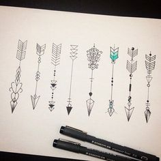 I love the idea of arrows as a tattoo! Maybe on my backside of my forearm?