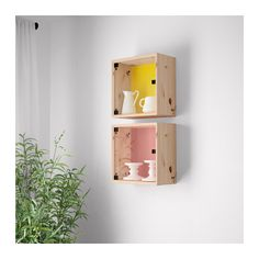 NORNÄS Nástěnná vitrína - borovice oranžová/žlutá - IKEA