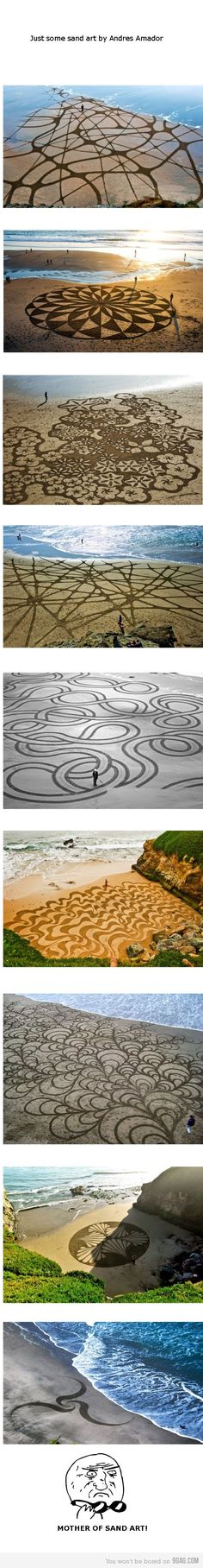 Sand art by Andres Amador wow!