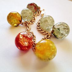 vintage glass fried marble bracelet...  We used to make fried marbles when I was a kid!