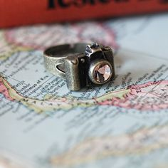 Anyone want to tell my husband that I'd like my jeweler uncle to make me a ring like this in silver with a diamond in the middle for Christmas? I don't ask for much...