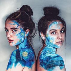 aesthetic body painting Surreal Self-Portrait Photo Manipulations By Annegien Schilling Paint Photography, Creative Photography, Portrait Photography, Photography Editing, Photography Tutorials, Digital Photography, Portrait Photos, Kreative Portraits, Arte Van Gogh
