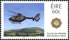 Sello: Helicopter (Irlanda) (Irish Defence Forces) Mi:IE 2062A,Sg:IE 2183