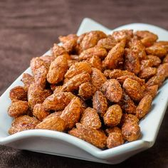 Smoky Sweet Spiced Almonds - delicious and nutritious, this snack packs an addictive flavour punch with sweet, salt and smoky spices in a crunchy collision.