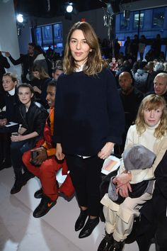 Sofia Coppola. attends the Calvin Klein Collection Front Row during New York Fashion Week on February 10, 2017 in New York City.