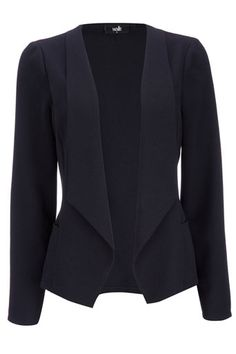 Navy Crepe Waterfall Jacket Unlined, light-weight  AND structured. Cannot go wrong with this for Spring.
