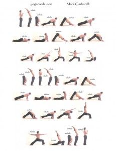 Sun Salutation is the backbone of any Vinyasa yoga practice. Learn this practical pose sequence in this colorful infographic! Vinyasa Yoga, Yoga Flow, Yoga Meditation, Yin Yoga, Yoga Fitness, Fitness Tips, Workout Fitness, Health Fitness, Hata Yoga
