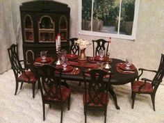 OOAK Barbie Dining Room