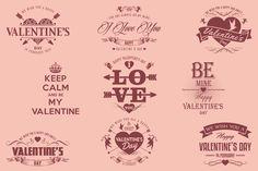 Valentine's Day Logo Badges & Labels by Marvel on Creative Market