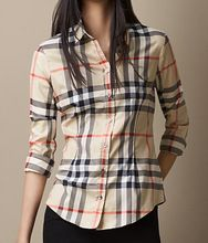 Exploded Check Shirt from Burberry. Burberry Shirt, Burberry Women, Tartan, Plaid Shirt Women, Herve Leger Dress, Simple Shirts, Check Shirt, Patterns, Models