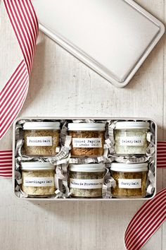 NOT Flavoured Salts BUT jars of international spice mixes.