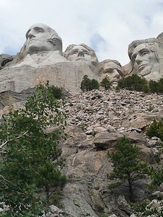 Mount Rushmore -- went in late 90's. It was so cloudy the heads were completely enshrouded. The clouds broke for about thirty seconds so we did catch a glimpse.