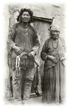 A man of the Chippewa Nation and his wife: Rising Sun of Turtle Mountain Chippewa. No date.