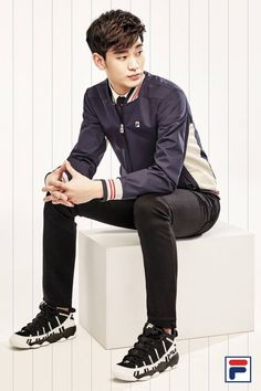 GUY CANDY: Producer's Kim Soo Hyun makes sportswear look chic for FILA