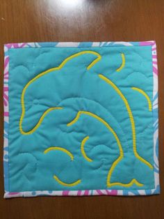 Mini tapestry of dolphin