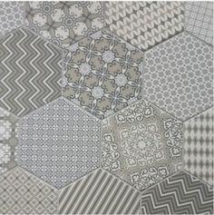 Trend Alert: Monochromatic Patchwork Tile |  Cozy•Styl...