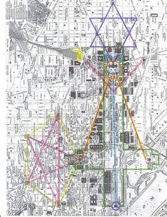 Washington DC hexagram 666 street layout with a nifty little