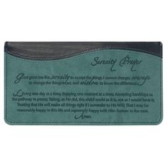 Serenity Prayer Checkbook Cover >>> You can get more details by clicking on the image.