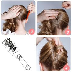 French Twist How-To.   I don't need this, but some of you might. Go to the link to find step 1. It's basically sectioning your hair and then it goes into step two.