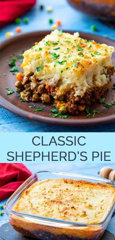 The Best Classic Shepherd's Pie – AKA Shepards Pie or Cottage Pie. Ground Beef (or lamb) with vegetables in a rich gravy, topped with cheesy mashed potatoes, and baked. with ground beef dinner The Best Classic Shepherd's Pie - The Wholesome Dish Beef Dishes, Food Dishes, Shepherds Pie Rezept, Pie Recipes, Cooking Recipes, Dinner Recipes, Cooking Hacks, Seafood Recipes, Gastronomia
