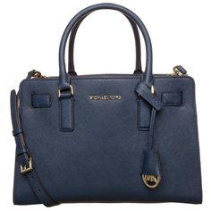 MICHAEL Michael Kors DILLON Handbag navy ($230) ❤ liked on Polyvore featuring bags, handbags, michael kors, purses, dark blue, navy leather purse, leather man bags, navy blue handbags, dark blue handbags and hand bags