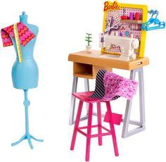 VISIT FOR MORE Barbie Career Fashion Design Studio Playset The post Barbie Career Fashion Design Studio Playset appeared first on Fashion design. Mattel Barbie, Barbie Doll Set, Doll Clothes Barbie, Barbie Doll House, Barbie And Ken, Barbies Dolls, Barbie Style, Accessoires Barbie, Sewing Station