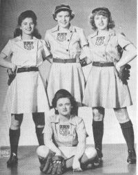 All-American Girls Professional Baseball League - established 1943, as many men's minor league teams were disbanded due to the war.