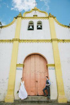 Beautiful Catholic church in Catarina, Nicaragua #church #destinationwedding  Brad & Nicole's wedding photos shot by Hitch and Sparrow Wedding Co. in Catarina, Nicaragua