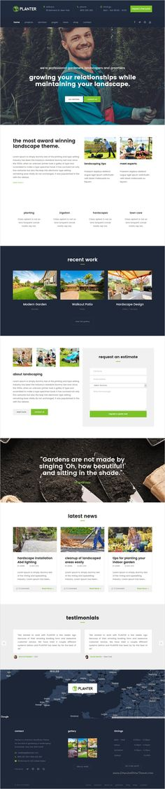 PLANTER is a fully responsive #WordPress #theme that suits for every #Gardening, Landscaping Companies, #Lawn Services and all kind of Gardening Business websites download now➩ https://themeforest.net/item/planter-landscaping-gardening-wordpress-theme/16535556?ref=Datasata