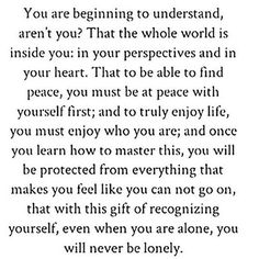 Its self love. A gift God has given to us, only if we are willing to receive it.