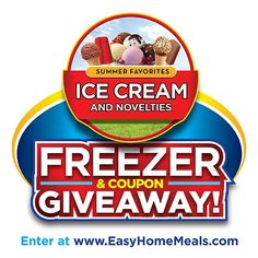 What's better than ice cream? Free ice cream! Enter our Ice Cream and Novelties Coupon & Freezer Giveaway for a chance to win!