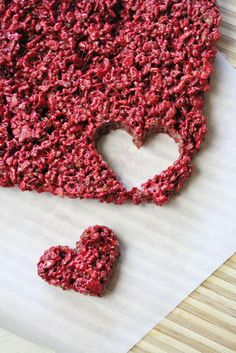 From Dahlias to Doxies: Red Velvet Rice Krispie Treats #recipe