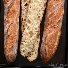 There is nothing like a freshly baked French baguette on a Sunday morning. French Baguette Recipe, Baguette Bread, Croissant, Clean Recipes, Cooking Recipes, Basic Bread Recipe, Artisan Bread Recipes, Instant Yeast, Bread And Pastries