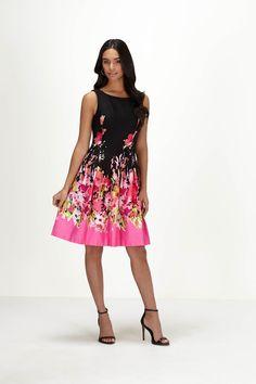 Chetta B Fit & Flare Floral Dress #ChettaB