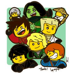 Ninjago ninja team.... minus Morro... I don't much like him... He kinda took my body and my dignity once...