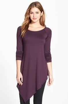 Karen Kane Angled Hem Long Sleeve Tunic Top