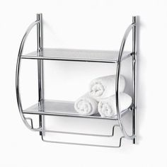 Add a lot of extra shelf space with this double wall shelf. Perfect for storing towels and other bath accessories.