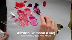 How to mix bright pink with acrylic paint: Colour mixing basics with acrylics   Part 1 of 2, via YouTube.