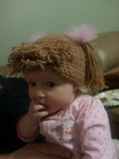 Enjoyable Crochet Baby Toddler Cabbage Patch Hat By Amyhinmandesigns On Etsy Hairstyles For Women Draintrainus